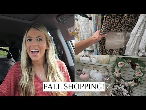 FALL SHOPPING & DECORATING VLOG | FALL SHOP WITH ME 2019- TARGET, HOME GOODS & MARSHALLS | ERICA LEE
