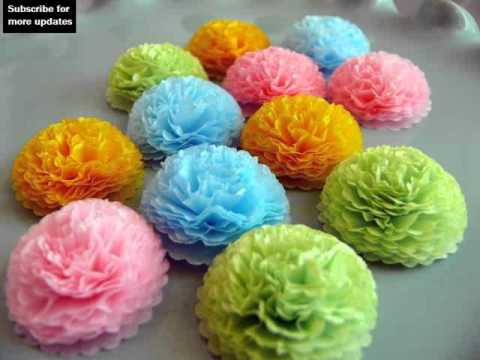 Tissue paper flower ideas ukrandiffusion tissue paper flowers craft ideas collection youtube mightylinksfo