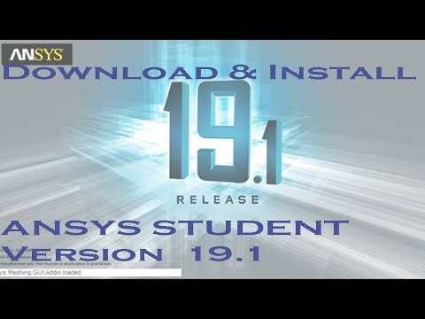 Ansys 19.1 Student Version Download and Install