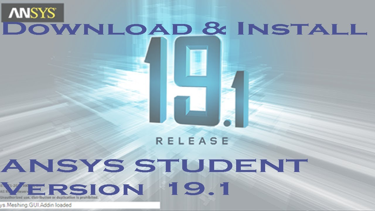 Ansys 19 1 Student Version Download and Install