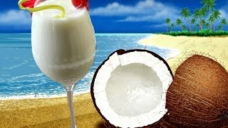 Virgin Pina Colada - Mocktail Recipe/ Non Alcoholic Beverage