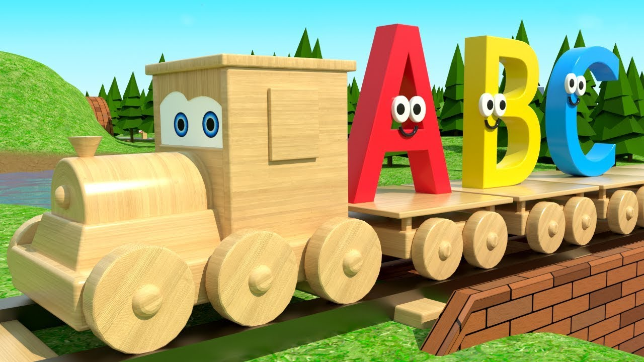 Learn Alphabet with Wooden Train Jimmy - ABC Train