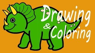 Dinosaur Learn Drawing and Coloring Pages for Kid, Toddlers Ep 05