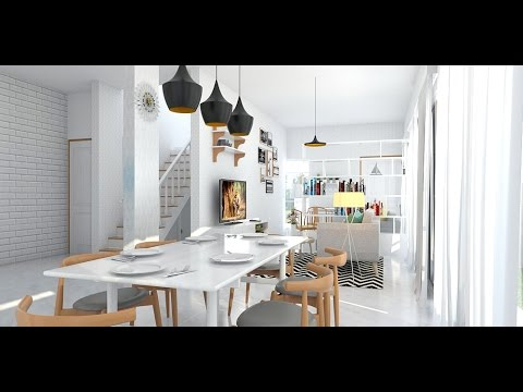 Tutorial Vray Sketchup 6 Interior Living Room And Dinning
