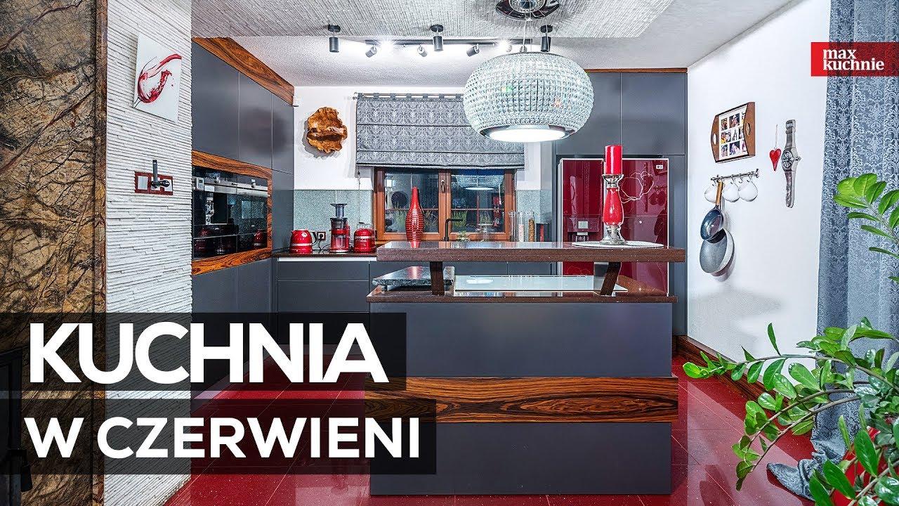 Kuchnia W Czerwieni Max Kuchnie Studio Mebli Ak Chrzanów