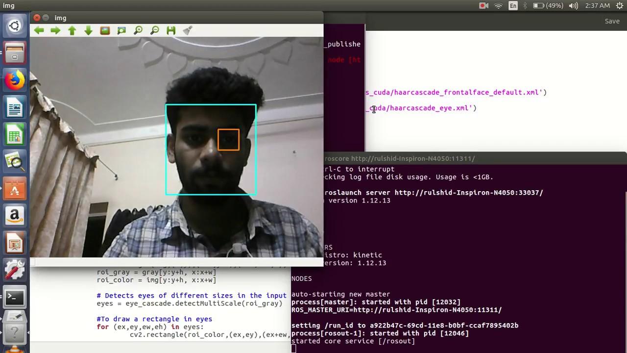 Python program for Face detection in ros using opencv