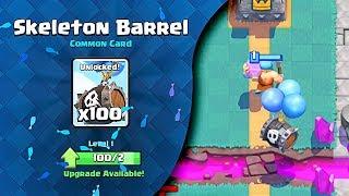 Clash Royale (SKELETON BARREL) Unlocked!!