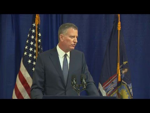 Mayor de Blasio Holds Media Availability on New York City