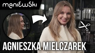 Agnieszka Mielczarek – cienkie, długie włosy - metamorfoza włosów [MACIEJ MANIEWSKI]