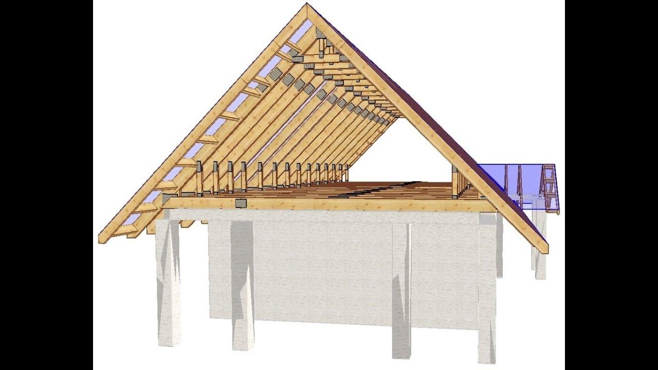 Видео как сделать крышу