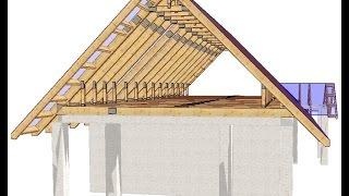 Секреты строительства .Двухскатная крыша.Часть 1(Крепление мауэрлата и балок., 2014-09-21T09:24:13.000Z)