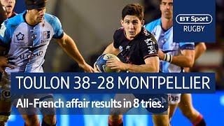 Toulon vs Montpellier (38-28) | Heineken Champions Cup Highlights