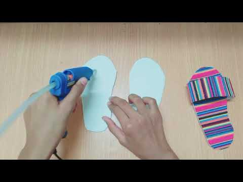 DIY Paper Slippers - Fun Activity to Do at Home With the Kids