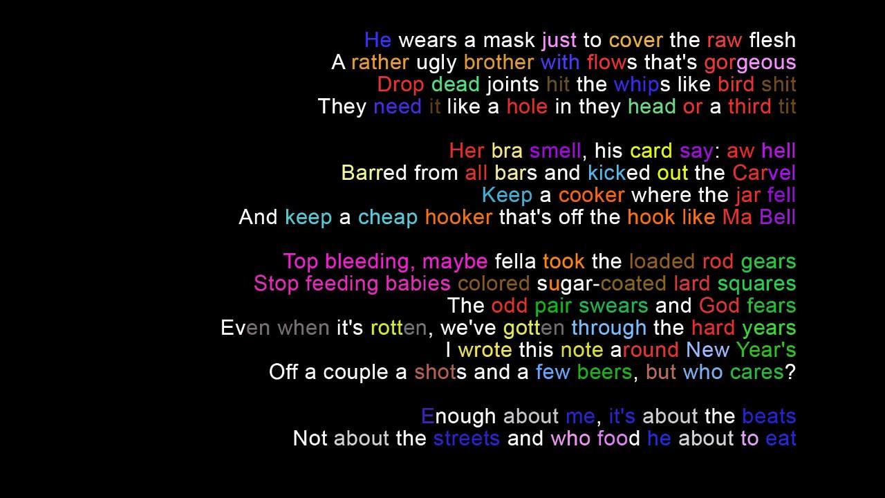 MF DOOM - Beef rap Rhymes Highlighted