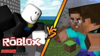 ★MINECRAFT ANIMATION★.- ROBLOX VS STEVE | EPIC FIGHT | - HD