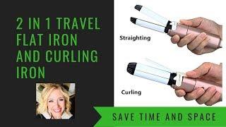 VAV 2 In 1 Ceramic Curling Iron Flat Iron Ionic Hair Straightener and Curler