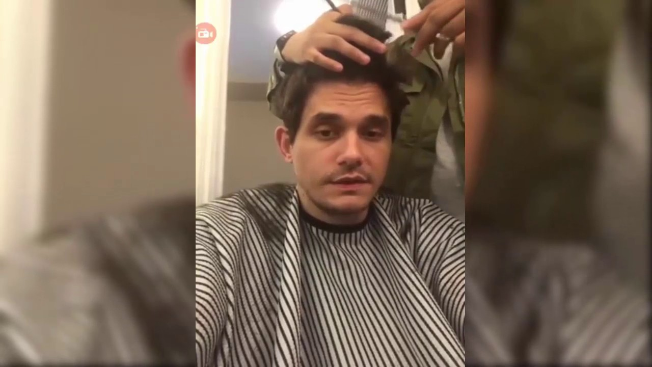 John Mayer Live On Instagram Haircut / 20,April,2017 With