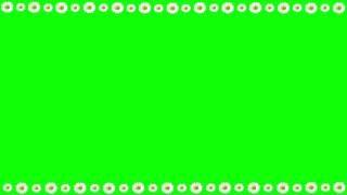 Green Screen Frame Flowers Daisies / Футаж Рамка Ромашки Хромакей