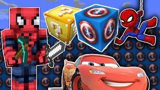 Örümcek Adam Kaptan Amerika Şans Blokları Açıyor Minecraft Maceraları