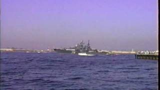 USSR Soviet Union Russian Naval Ships entering San Diego 1990