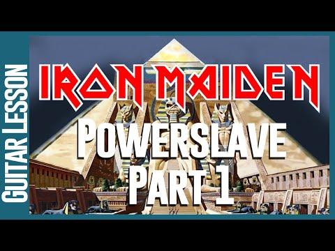 Powerslave By Iron Maiden - Guitar Lesson Tutorial Part 1 Rhythm Guitar