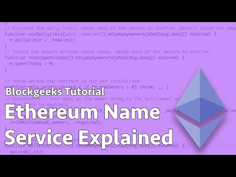 Ethereum Name Service Explained