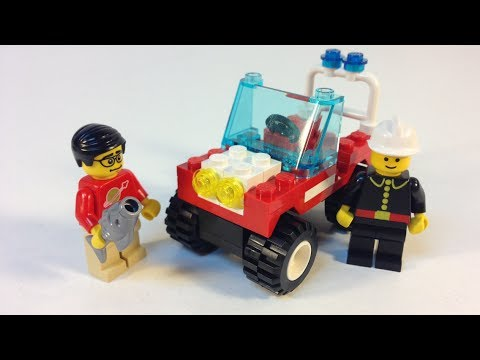 LEGO Classic Town 6511 Rescue Runabout Fireman Set from 1992