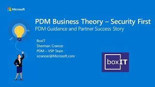PDM Business Theory   Security and Success Story Part 3 Packages