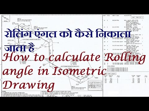 How to calculate Rolling degree/slope in Isometric Drawing