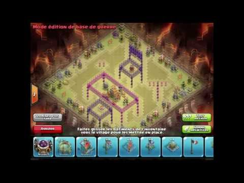 Clash Of Clans/ Comment faire un village hdv 7 #2 La table