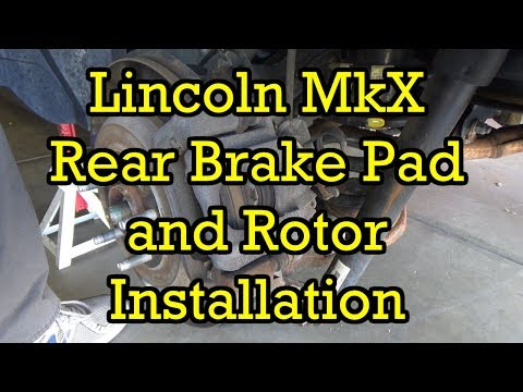 Lincoln MKX/Ford Edge Rear Brake Pad and Rotor Replacement 2013 (2011-2015 Similar)