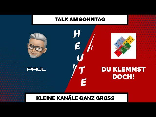 TALK AM SONNTAG - Heute im Gespräch mit Du klemmst doch!