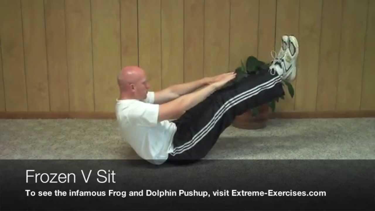V Sits Exercise Frozen V Sit Exercise