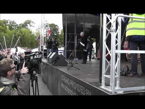 Balmoral Review Colour Party & Speaches 2012