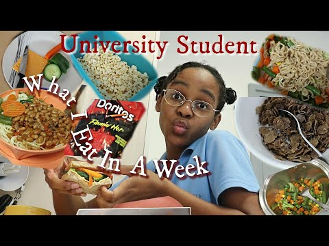 What I Eat In A Week As A University Student  SOUTH AFRICAN YOUTUBER