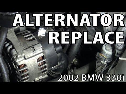 BMW E46 Alternator Replacement DIY