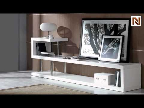 modern white lacquer tv stand vgguwin5 youtube. Black Bedroom Furniture Sets. Home Design Ideas