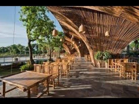 Desain Warung Makan Cantik Dari Bambu - YouTube