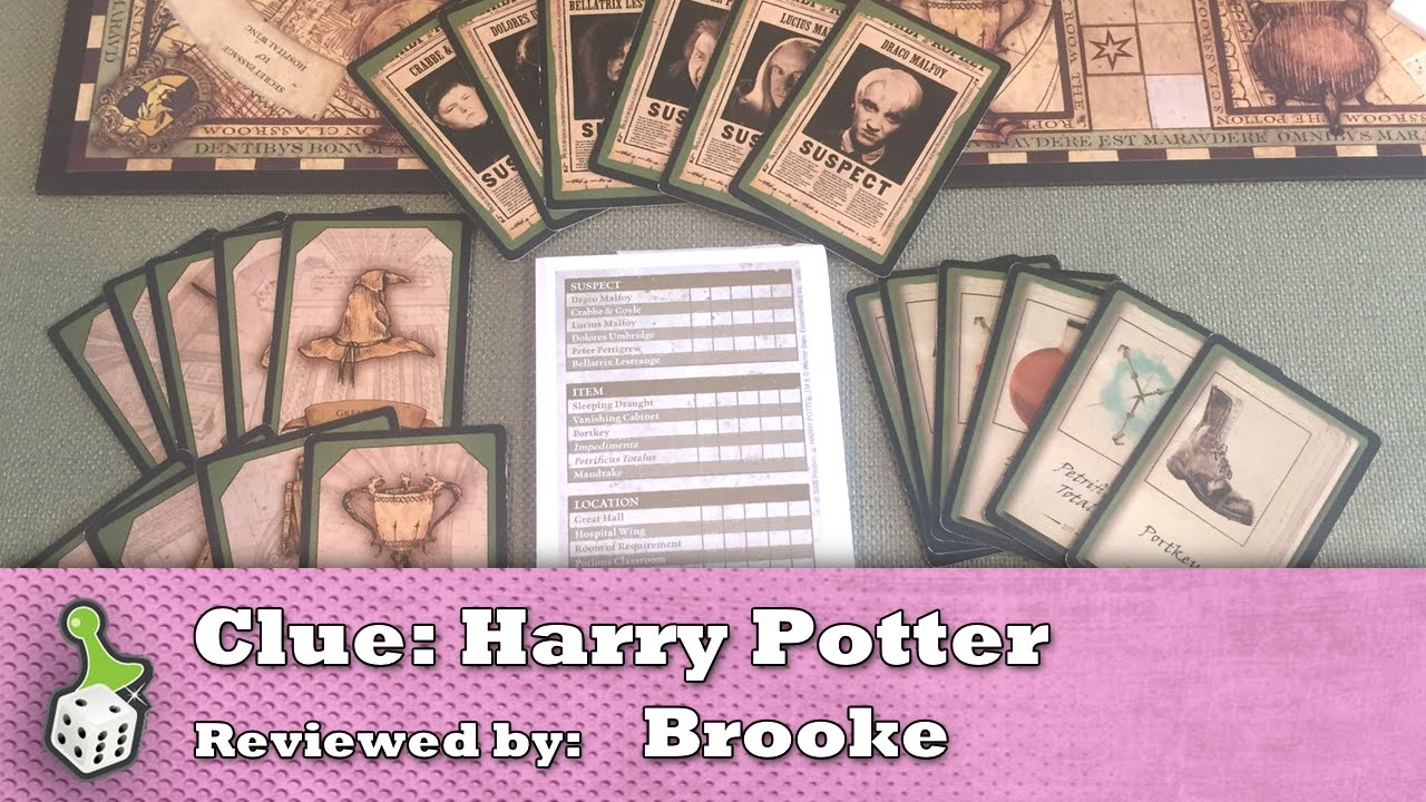 Board Game Review Clue Harry Potter Edition Youtube