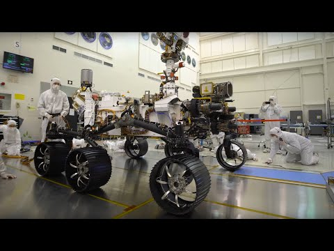 Mars 2020 rover takes its first test drive