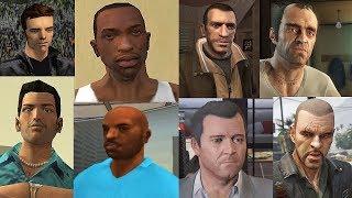 Все Смерти Главных Героев из GTA игр!