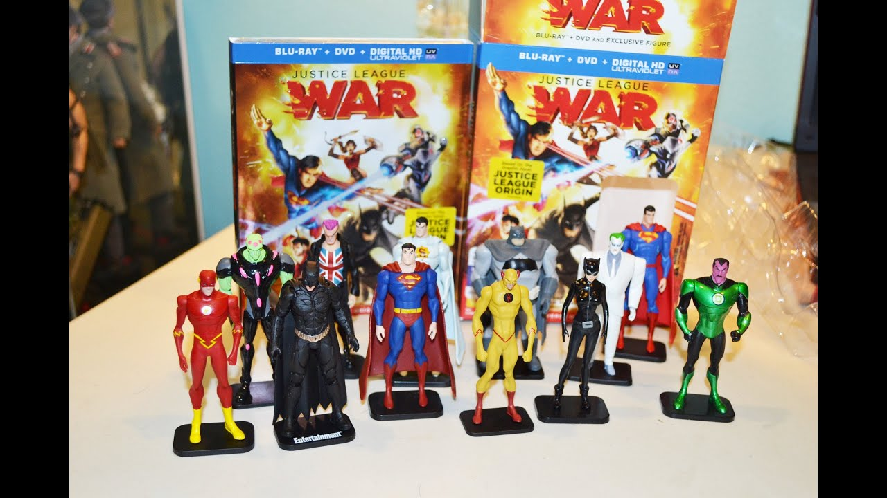 Justice League WAR movie Blu ray DVD Best Buy Exclusive w FIGURE