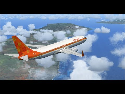 Microsoft Flight Simulator X | Honolulu to Kona | Aloha Airlines 737-800