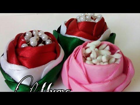 Канзаши - FLOR MEXICANA 🌸 FABRIC FLOWERS - HANDMADE FLOWERS- SILK FLOWERS #DIY