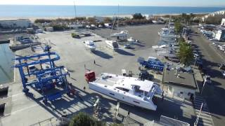 Outremer launchs a new 5X catamaran in la Grande Motte, France