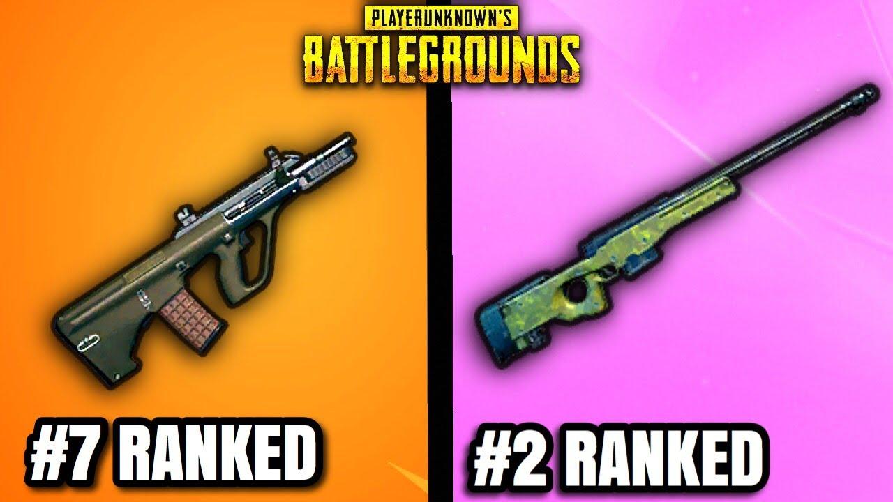 Top 10 BROKEN Weapons In PUBG! (difficult list)