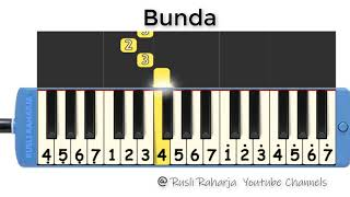 Bunda not pianika