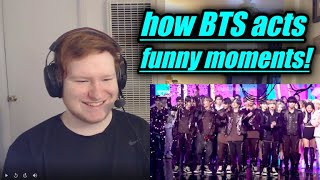 how bts acts when no one is watching REACTION!! (funny)