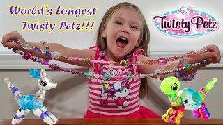 World's Longest Twisty Petz Bracelet Necklace! New Pets Toys!!!