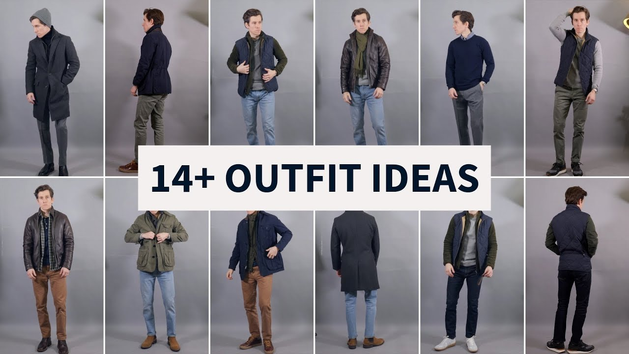 14 Layering Outfit Ideas For Men Smart Casual Fall Winter Outfits Youtube